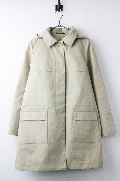 キルティング ライナー付 フード ステンカラー コート