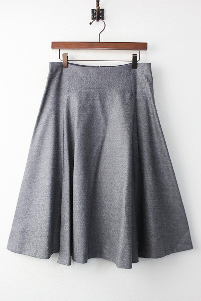 スリット ウール フレア スカート