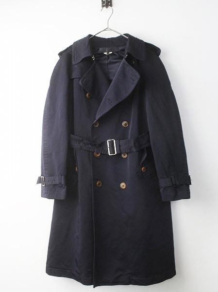 名作 ポリ 縮絨 ドレス トレンチ コート
