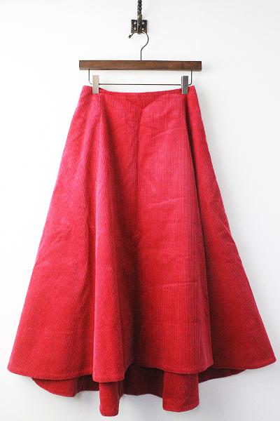 限定 helen コーデュロイ フレア スカート