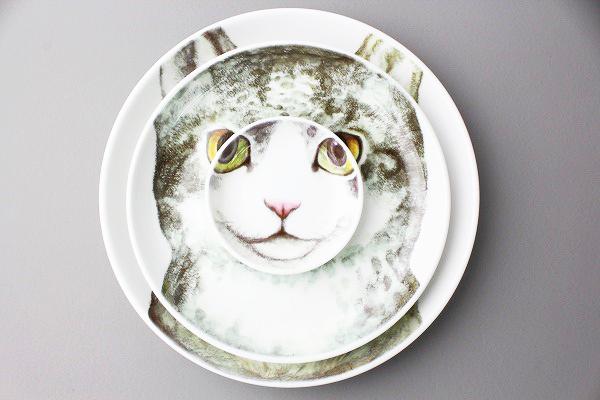 ヒグチユウコ 三匹で猫皿