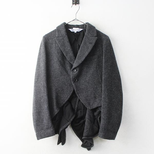 AD2013 フリル 燕尾 ウール テーラード ジャケット