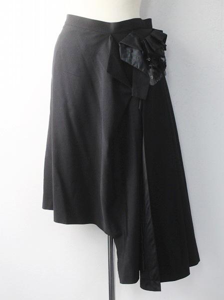 AD2013 フラワーモチーフ アシメ プリーツ スカート