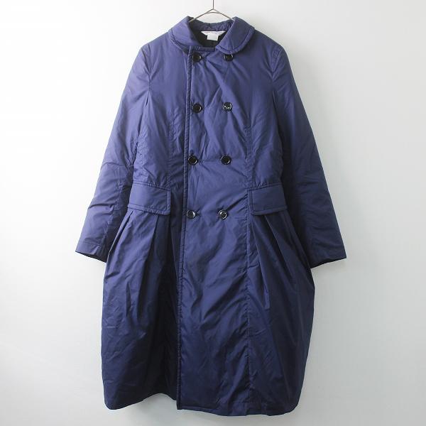 中綿入り ダブルボタン バルーン コート