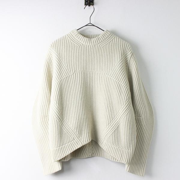 ウール クルーネック ニットプルオーバー セーター