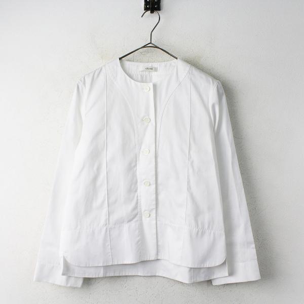 ノーカラー 長袖 シャツ