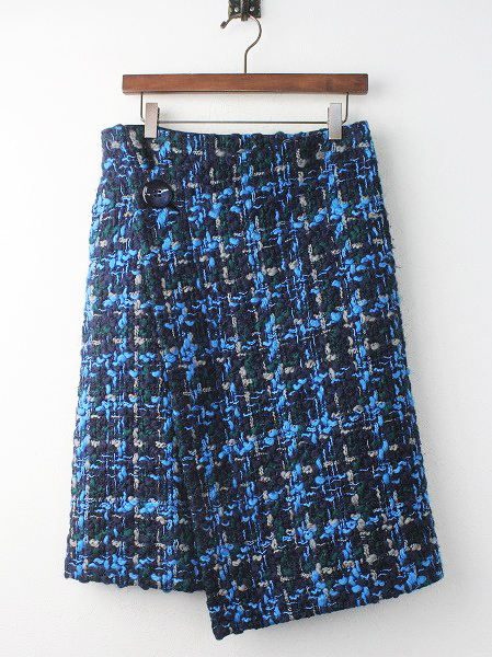 BLUE ツイード スカート