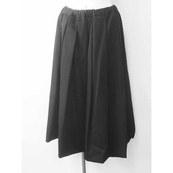ウール プリーツ ロング バルーン スカート