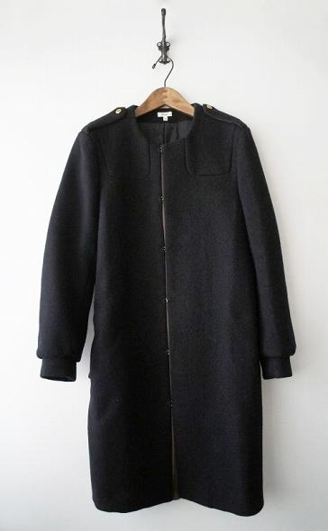 Scye サイ メルトン ウールノーカラーコート